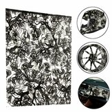 BIKIGHT 50x100CM PVA Hydrographic Film Odorless Water Transfer Printing Film Hydro Dip Skull Style Decals For Bike Helmet