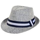 Мужские мужчины Женское Соломенная джазовая кепка Летняя дышащая На открытом воздухе Солнцезащитный козырек Panama Шапка