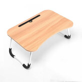 Portable Foldable Laptop Desk with Phone Slot Cup Holder Lazy Bed Study Desk for Home Office