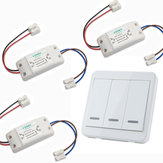 3шт KTNNKG Беспроводной выключатель света Набор + KTNNKG 433 МГц Универсальный беспроводной Дистанционное Управление 86 Настенная панель РЧ переда