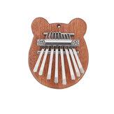 Muspor 8 Chaves Mini Kalimba África Polegar Piano Mbira Teclado Madeira Maciça Instrumento Presente Brinquedo Com Cordão Pingente