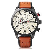 CURREN 8250 Luksusowa skórzana opaska na rękę Casual Men Watch