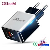 QGEEM QC 3.0 USB Charger Fiber Drawing Wall Charger Adapter Fast Charging For Huawei P30 P40 Pro MI10 Note 9S S20+ Note 20