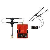 FrSky R9M 2019 Modulo trasmettitore a lungo raggio 900MHz e R9 SX OTA ACCESS 6 / 16CH a lungo raggio ricevitore potenziato combinato con antenna Super 8 e T montata