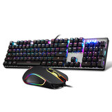 Originele Motospeed CK888 NKRO Blue Switch 104Key Mechanische Gaming Keyboard en Mouse Combo