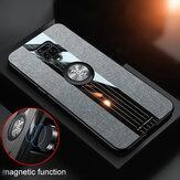 Bakeey for Xiaomi Redmi Note 9S / Redmi Note 9 Pro/Redmi Note 9 Pro Max Caso com suporte de anel magnético Suporte Tecido de pano respirável à prova de choque Protective Caso Não original