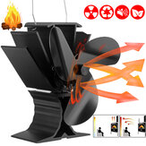 3-Blades Ultra Quiet Heat Powered Stove Fan Eco Heat Powered Wood Log Burning Fire Burner Fireplace Fan Winter Keep Warm Tool