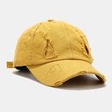 Unisex Pamuk Kırık Delikler Moda Outdoor Güneşlik Beyzbol Şapka