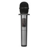 Bluetooth для беспроводной 10-канальный UHF Микрофон динамический портативный микрофон с аккумулятором Приемник для караоке пение церковной реч