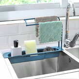 Bakeey 2-In-1 2 Layers Telescopic Sink Rack Telescopic Kitchen Sink Drainer Storage Rack
