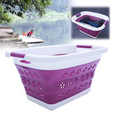 Large Collapsible Laundry Drain Basket Wash Clothes Fruits Bin Space Saving Foldable