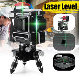 3D 12 Line Blue ضوء Laser Level LCD 360 ° Rotary Self Level Level Cross Tool Tool