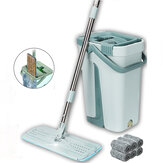 Balde plano Mops 360 ° Rotatable Fine Fiber Cleanner Free Hand Spinning Ultrafine Magic Mop Mop
