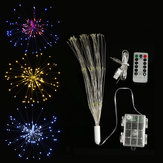 Podwójnie zasilana bateria USB 150 LED Starburst String Fairy Light Sliver Wire Wedding Party Home Decor