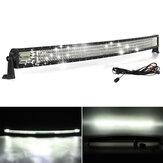منحني 50 بوصة LED ضوء بار 288 واط مجموعة أسلاك الطرق الوعرة كومبو شاحنة 4x4WD