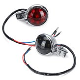 12V Motorcycle Smoke Rear Brake Stop Red Tail Light For Harley Chopper Cafe Racer