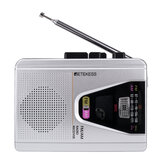 Retekess TR620 FM AM-radio met cassette afspelen Spraakrecorder Cassette afspelen Loop-modusschakelaar