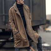 Mens Plus Size Wool Blend Double Side Wearable Thicken Coat