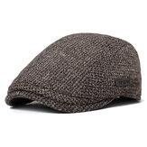 Unisex Baumwoll Wolle Gatsby Mütze aus Baumwolle Golf Fahren flacher Cabbie Newsboy Hut