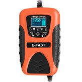 E-FAST 12V 7A Reparación de pulso LCD Batería Cargador para Coche Moto Plomo ácido Batería Agm Gel Húmedo