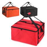 """16 """"vízálló pizza szigetelt táska hűtőtáska szigetelés összecsukható piknik hordozható jégcsomagolás élelmiszer termikus szállítás táska"""