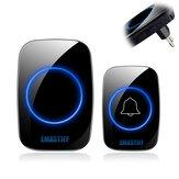 EMASIFF Home Welcome Doorbell Intelligent Wireless Doorbell Waterproof 300M Remote EU Plug