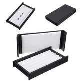 5 Strip Jewelry Box Display Tray Stone Storage Box Gem Show Case Holder Organizer