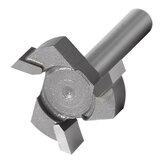 1/4 Zoll 6 mm Schaft T-förmiger Fräser Bit 3 Klingen-Schlitzschneider Hartmetall-Holzbearbeitungsschneider