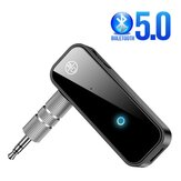 Bakeey 2-In-1 bluetooth 5.0 Handsfree Receiver Transmitter 3.5mm AUX Jack LED Indicator Wireless Adapter For Car Headphone