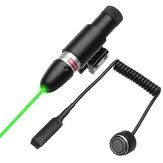 Green Laser Beam Dot Sight Scope Tactical Barrel Rail Mount with Remote Pressure Switch