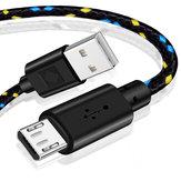 Bakeey 2A Micro USB Nylon Cabo de dados trançado de carregamento rápido para telefone Android HUAWEI HONOR OPPO