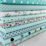 9Pcs DIY Bundles Fabric Fat Quarters Cotton Florals Gingham Craft Quilt Sewing
