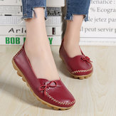 Women Casual Leather Comfy Flat Loafers
