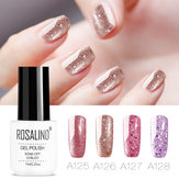 8 kleuren Rose Gold nagelgel Polish Glitter Soak-off UV Gel