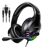 Bakeey Q2 USB 3.5mm AUX Wired Gaming Headset Over-Ear Surround Bass HD Voice Low Loss RGB Light Headphone With Mic
