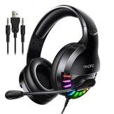 Bakeey Q2 USB 3.5mm AUX Kabel Gaming Headset Over-Ear Surround Bass HD Suara Kehilangan Rendah RGB Light Headphone Dengan Mic