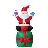 Le père noël gonflable de jouets de Noël de 1,8M sur les lumières extérieures de jardin de décoration de Noël présente