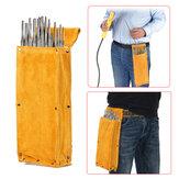 Cowhide Thicken Tool Waist Bag Welding Rod Electrode Hardware Screwdriver Case