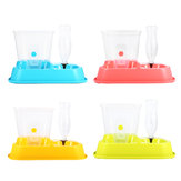2 in 1 Otomatis Pet Food Drink Dispenser Dog Cat Feeder Water Station Bowl Dish Minuman Dispenser