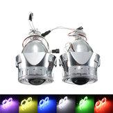 2.5 İnç H1/H4/H7 Bi-Xenon HID Projektör Farlar Dönüşüm Kit ile Lens CCFL Angel Eyes Halo Halka Lambaları