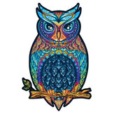 A3/A4/A5 Wooden Owl Puzzle Cartoon Unique Shape Pieces Animal Gift Mysterious Early Education Toys for Childrens Adults Kids