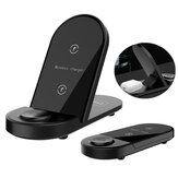 Bakeey X416 Caricabatterie wireless 3 in 1 15W Ricarica rapida Stand Holder Dock station per Apple Watch per Airpods per iPhone 12/12 Mini / 12 Pro Max per Samsung Galaxy Note S20 ultra Huawei Mate40 OnePlus 8 Pro