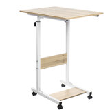 Moveable Computer Laptop Desk Height Adjustable Writing Study Table Book Storage Shelf Workstation with Wheels Home Office Furniture
