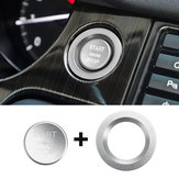 Car Start Button Carbon Engine Switch Cover Interior Moulding for Land Rover Discovery Sport 2015-2018