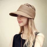 Chapeau de paille pliable respirant extérieur femme