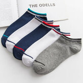 1 Pair Men Cotton Socks Anti-slip Short Sock Ankle Socks Boat Socks Outdoor Hiking Travel