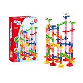 105/109ピースDIY建設レース実行軌道迷路ボールトラックビルディングトレンディ教育玩具子供のおもちゃ