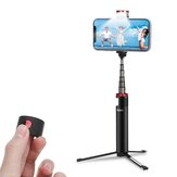 INSMA INS-10 All In One LED Fill Light Selfie Stick Trépied de télécommande Bluetooth extensible pour les téléphones en direct Sport