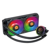 Thermaltake 240 ARGB AIO Integrated CPU Water Cooling Radiator Fluid Cooler Temperature Display For Intel & AMD