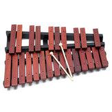 Cadeau éducatif de percussion de xylophone en bois de 25 notes avec 2 maillets